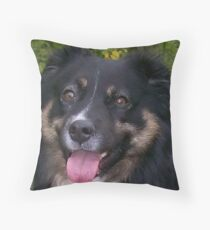 australian shepherd black tri Throw Pillow