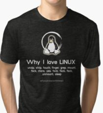 linux sys admin penguin pc nerd computer system core CPU pc coder geek informatik Tri-blend T-Shirt