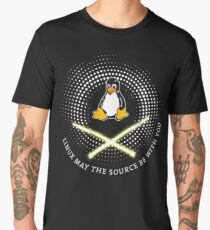 penguin source be with you laser pc nerd computer system core CPU pc coder geek informatik Men's Premium T-Shirt