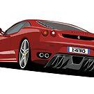 Ferrari F430 Cartoon by ToonMyRide