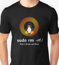 penguin sudo rm -rf/ delete boot cute sys admin penguin pc nerd computer system core CPU pc coder geek informatik T-Shirt