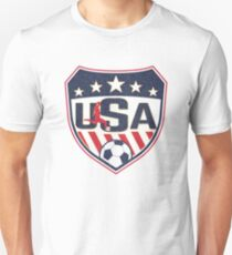 USA-Fußball-Weinlese-Logo Slim Fit T-Shirt