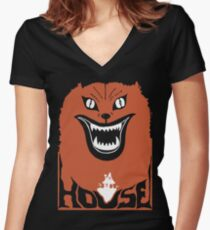Hausu House Cult Horror Movie Women's Fitted V-Neck T-Shirt