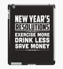 New Year's Resolutions Funny 2018 Resolution Holiday iPad Case/Skin