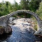 Packhorse Bridge over a river by SiobhanFraser