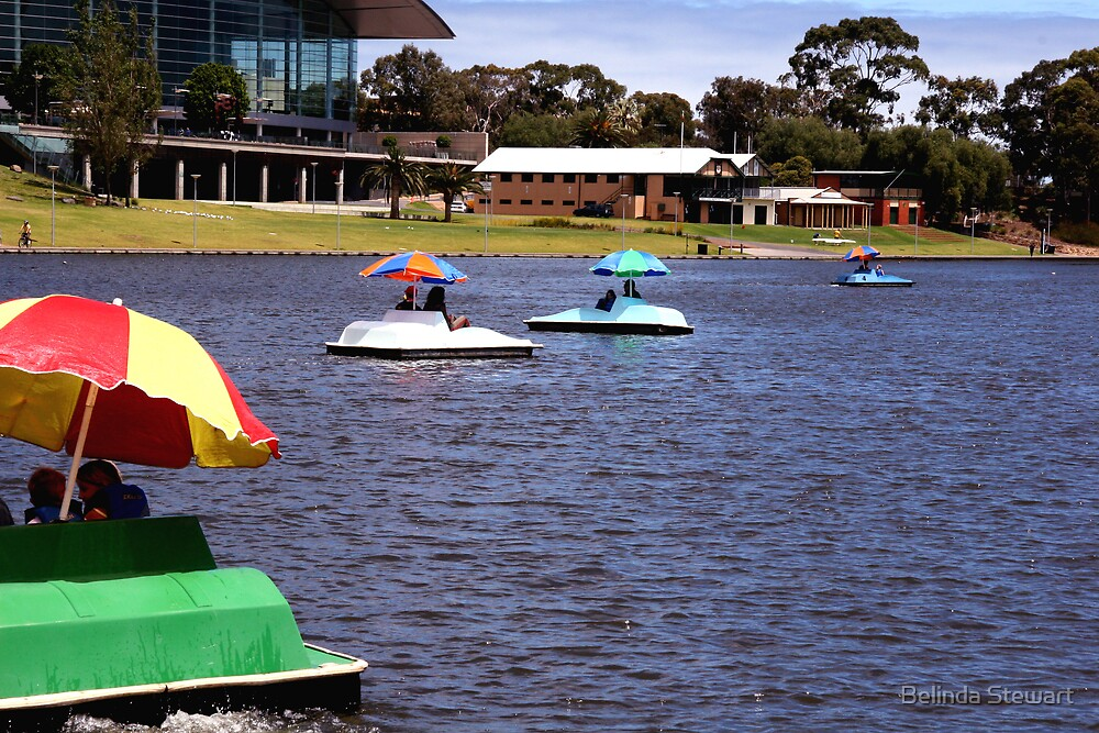 Boats on the Torrens by Belinda Stewart