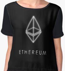 ethereum nerd bitcoin blockchain cryptochain währung internet kursgewinn dezentral glühen symbol eth Chiffon Top