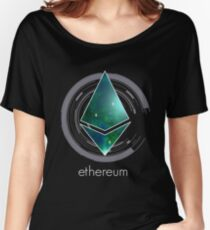ethereum nerd bitcoin blockchain cryptochain währung internet kursgewinn dezentral cpu platine computer Women's Relaxed Fit T-Shirt