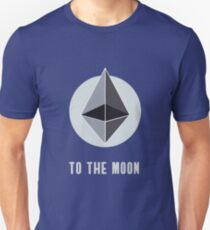 ethereum symbol to the moon sign nerd bitcoin blockchain cryptochain währung internet kursgewinn dezentralize it cpu platine computer path universum T-Shirt