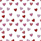 I love you candy valentines day hearts pattern gifts by charlottewinter