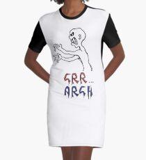 grr...argh with colour Graphic T-Shirt Dress