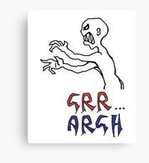 grr...argh with colour Canvas Print