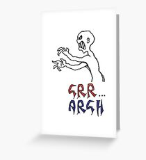 grr...argh with colour Greeting Card
