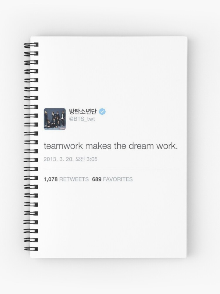 bts inspiring quote spiral notebook by elf redbubble