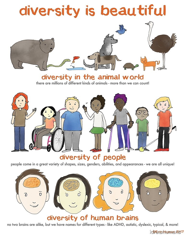 diversity is beautiful by Erin Human