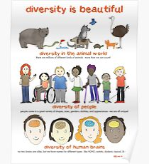 diversity is beautiful Poster