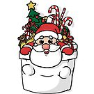 Niedliche Pocket Santa von Beka Designs