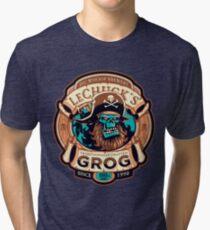 Ghost Pirate Grog Monkey Island Lechuck Tri-blend T-Shirt
