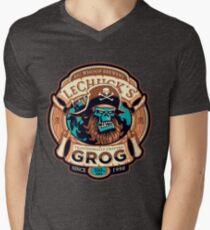 Ghost Pirate Grog Monkey Island Lechuck Men's V-Neck T-Shirt