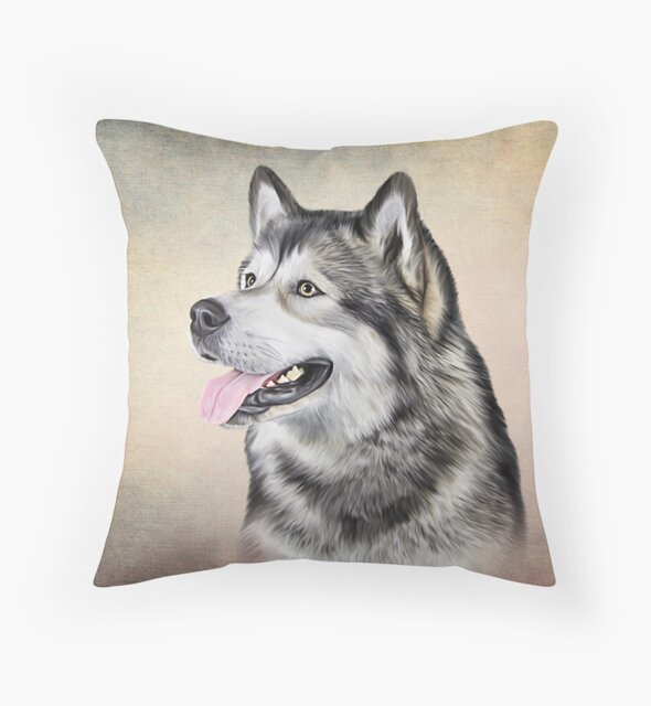 Drawing Dog Alaskan Malamute by bonidog