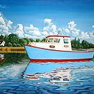 Lone Boat - Original Art from Shee - Surreal Worlds by SheeArtworks