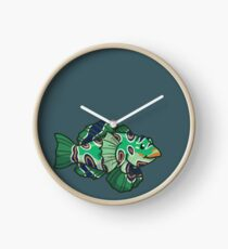Picturesque Dragonet Clock