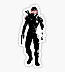 A commander, a hero Sticker