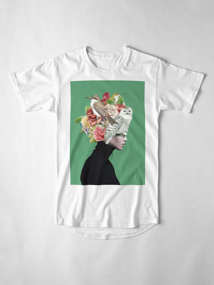Alternate view of Lady with Birds(portrait) 2  Long T-Shirt