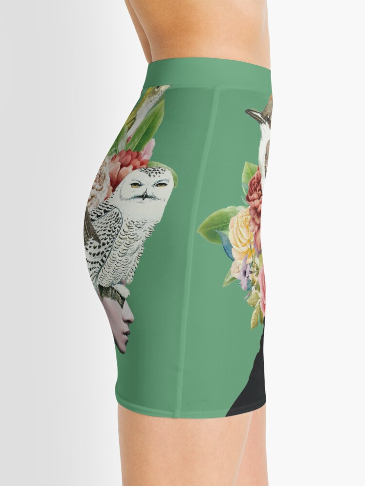 Alternate view of Lady with Birds(portrait) 2  Mini Skirt