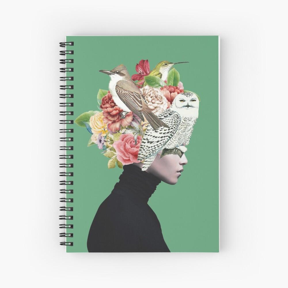 Lady with Birds(portrait) 2  Spiral Notebook