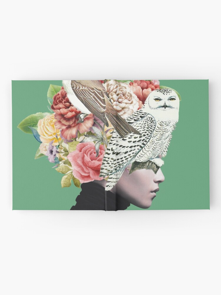 Alternate view of Lady with Birds(portrait) 2  Hardcover Journal