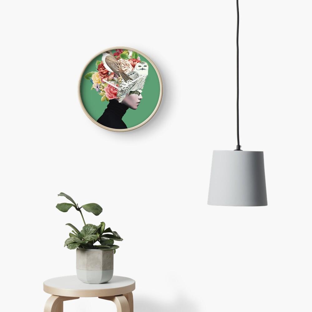 Lady with Birds(portrait) 2  Clock