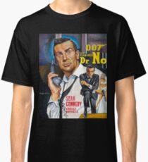 James Bond Sean Connery painting Classic T-Shirt