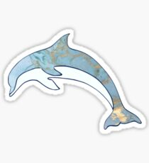 Dolphin with Metallic Gold Accents Sticker