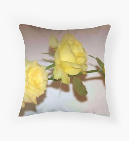 JUST YELLOW Throw Pillow