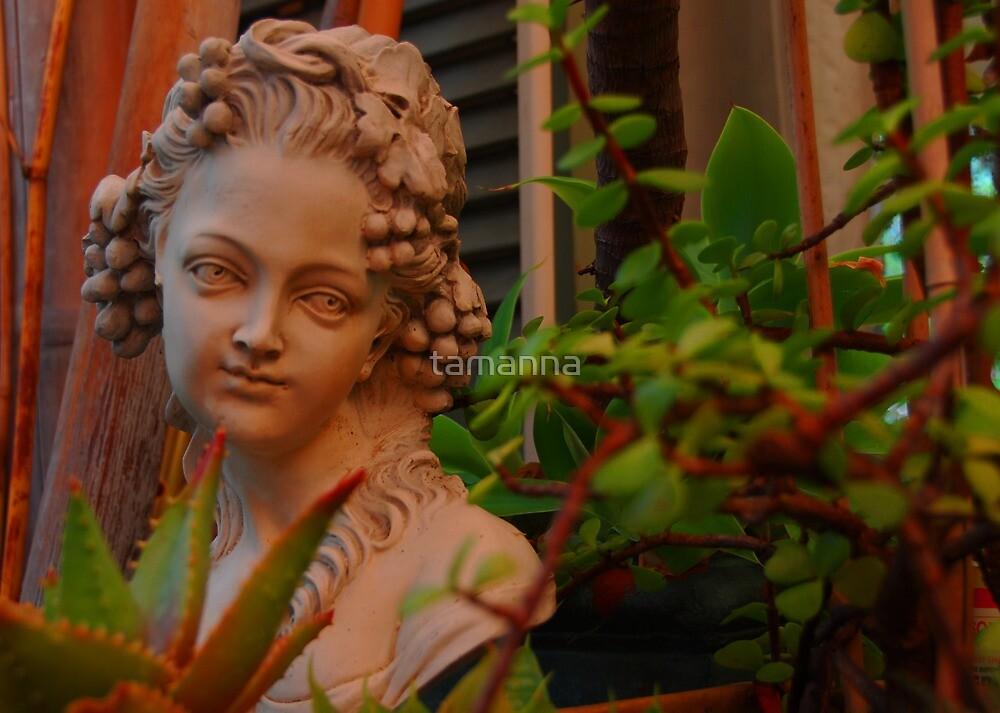 Lady in the garden by tamanna