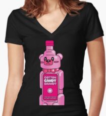 Cotton Candy Brandy Tshirt Women's Fitted V-Neck T-Shirt