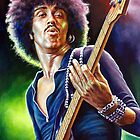 Lynott Thin Lizzy portrait painting by Star Portraits Soutsos Art