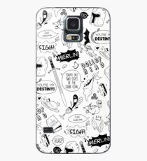 Merthur Muster_Merlin Hülle & Klebefolie für Samsung Galaxy