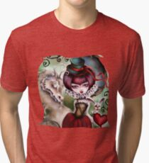 Dragon Lady - Victorian Gothic Tri-blend T-Shirt