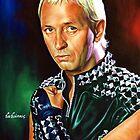 Rob Halford Priest, painting portrait by Star Portraits Soutsos Art