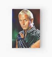 Rob Halford Priest, painting portrait Hardcover Journal