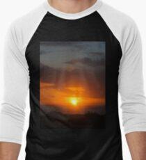 Orange Sunset at Beach -v Men's Baseball ¾ T-Shirt
