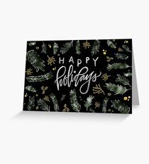 Evergreen Happy Holidays Greeting Card