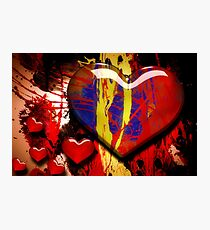 Graffiti Hearts Photographic Print