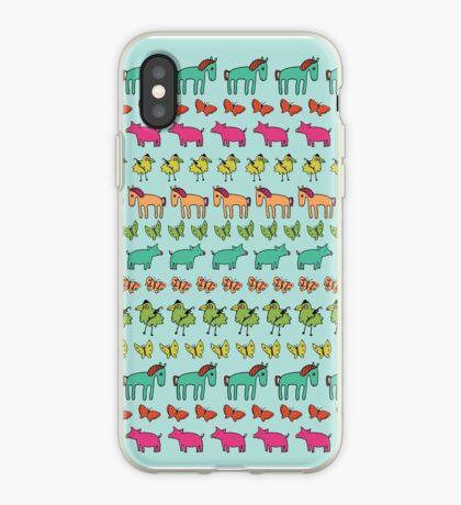 Striped Pigs and Ponies - Peach Melba - cute, fun pattern by Cecca Designs iPhone Case