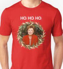 HO HO HO - Blanche Devereaux Christmas from the Golden Girls (White) Unisex T-Shirt
