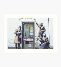 """We are Listening"" Banksy Art Print"