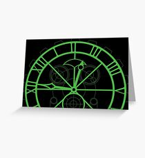 Wicked Clock Set Design - Green Greeting Card
