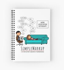 Editherapy - The Invisible Said Spiral Notebook